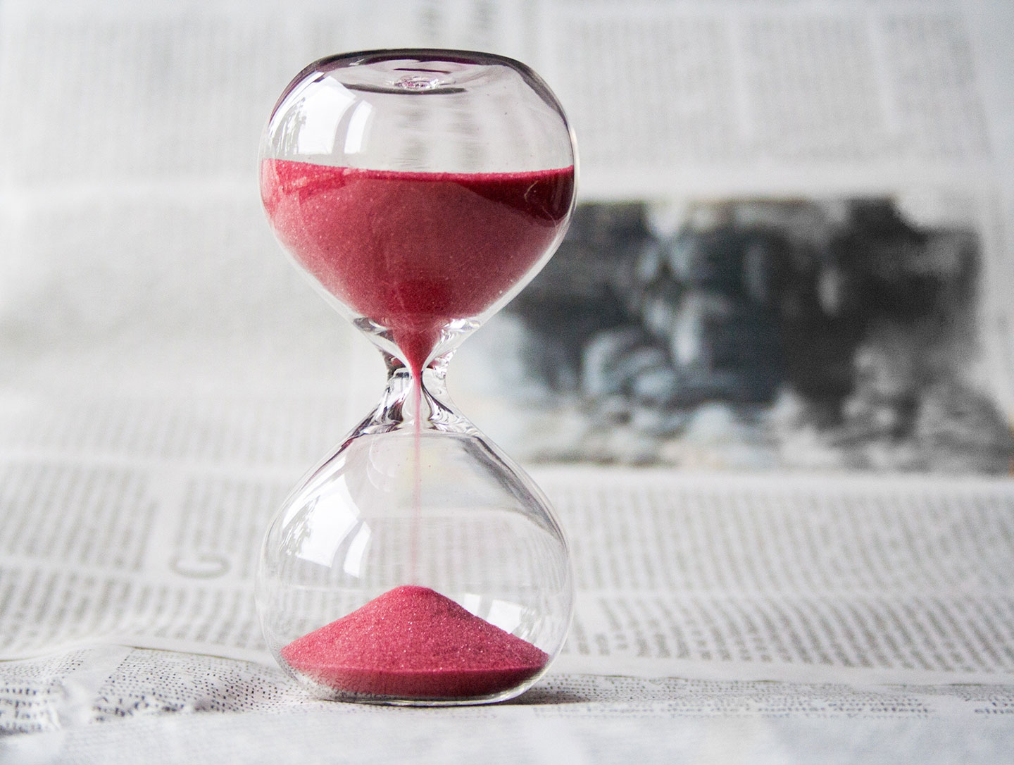 Time management for small business hourglass