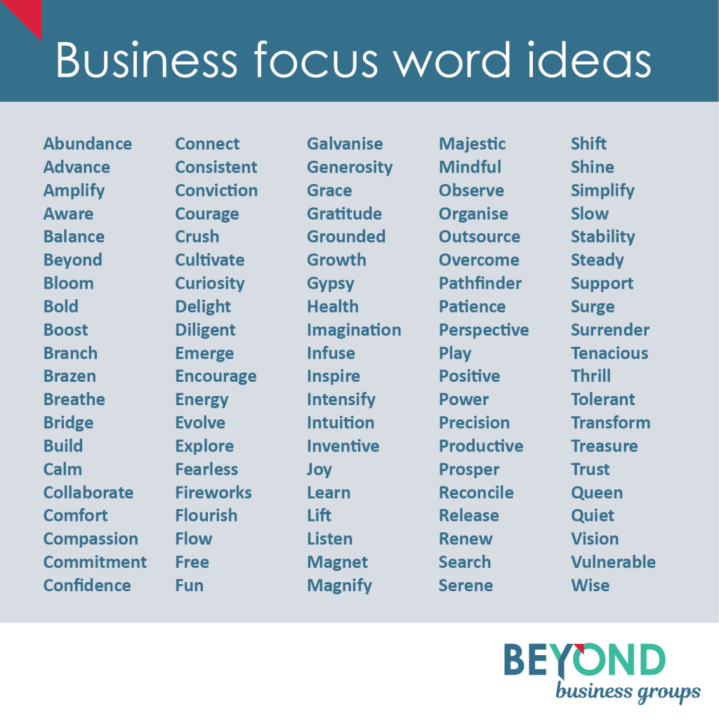 Business focus word for 2021